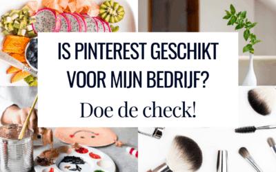 Is Pinterest geschikt voor mijn bedrijf?