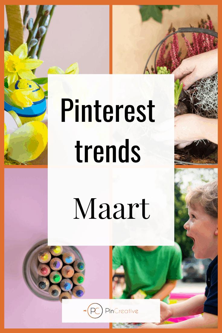 Pinterest marketing trends maart. De Pinterest marketing trends waar jij als ondernemer op in kunt spelen. Carnaval, pasen, buiten en meer.